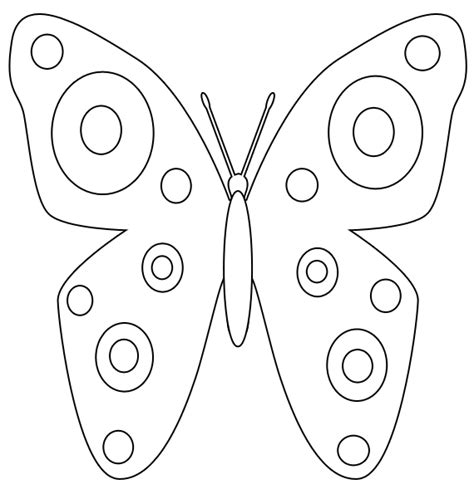 butterfly template printable spring butterfly coloring