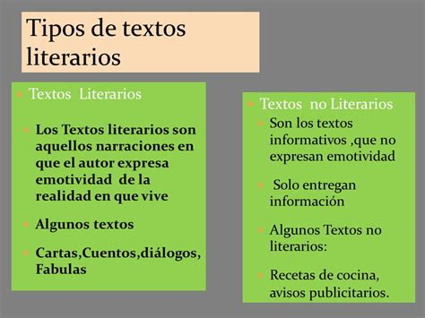 imagenes textos literarios tipos de textos literarios