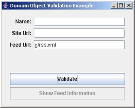 builder pattern java validation validating domain object exle data validation 171 swing