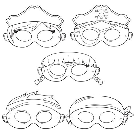 printable pirate mask pirates printable coloring masks pirate mask captain