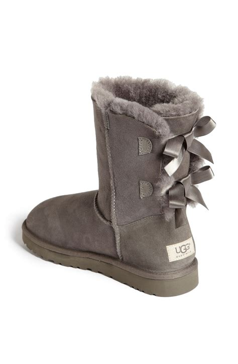 ugg bailey bow boot in gray grey lyst