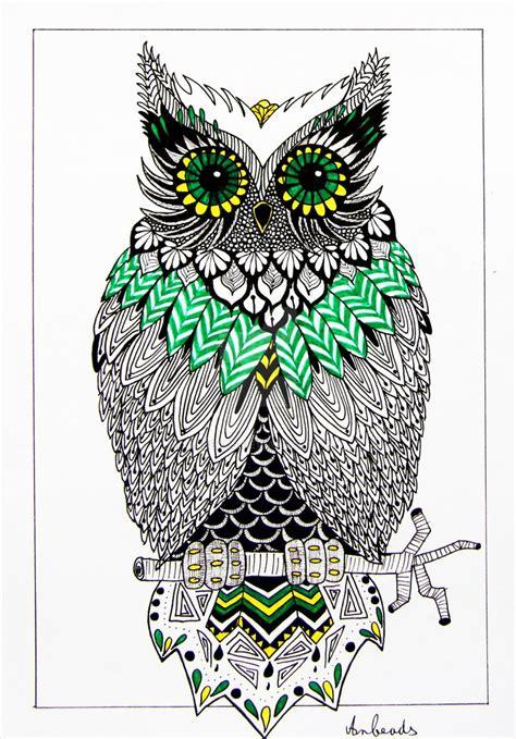 zentangle owl pattern zentangle owl by anbeads on deviantart