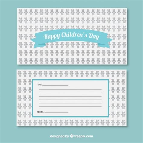 S Day Card Templates Free by Happy Children S Day Card Template Vector Free