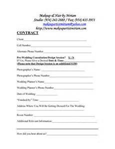hair and makeup contract template best photos of makeup artist bridal contract printable