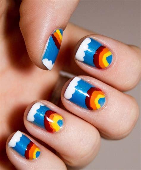 tutorial nail art rainbow nail art rainbow nail art designs