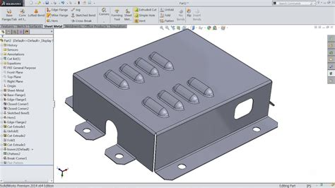 pattern sheet metal solidworks solidworks sheet metal tutorial youtube