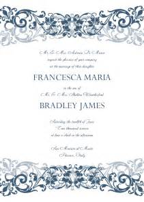 wedding invitations templates free for word beautiful wedding invitation templates ipunya