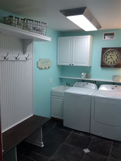 mud room remodel teal from sherwin williams for the home laundry rooms