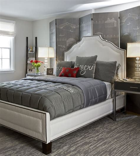 Bedroom Design Grey Bed Polished 19 Dashing Bedrooms In And Gray