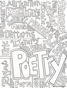 cover letter for poetry subject cover pages coloring pages classroom doodles