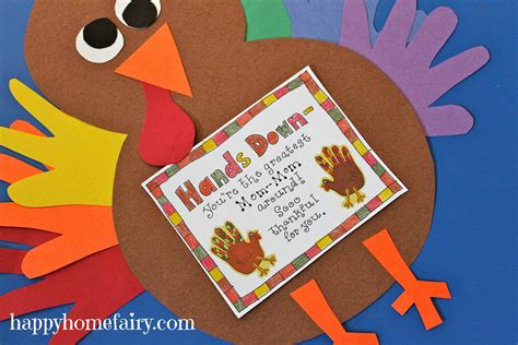 printable thanksgiving craft ideas thankful handprint turkey craft free printable happy