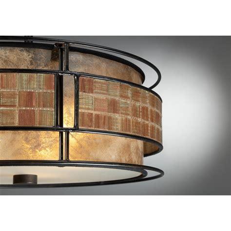 copper semi flush light quoizel mc842src 3 light laguna semi flush mount in
