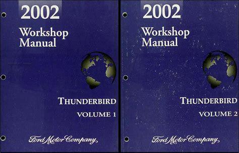 2002 ford thunderbird repair shop manual 2 volume set original
