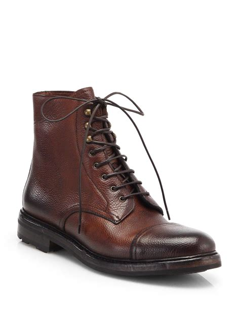 mens distressed leather boots ralph mundesley distressed leather lace up boots in