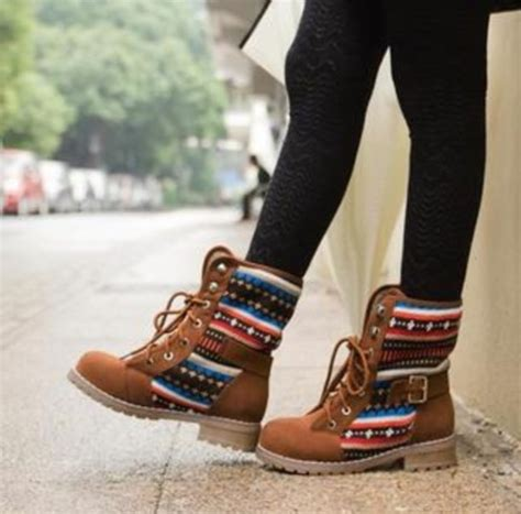 tribal pattern winter boots shoes boots winter outfits love pattern brown native