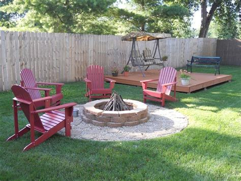 small backyard pit for those of us who can t afford a real deck backyard idea pallet deck with pit