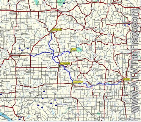 atv trails maps free sle atv gps map