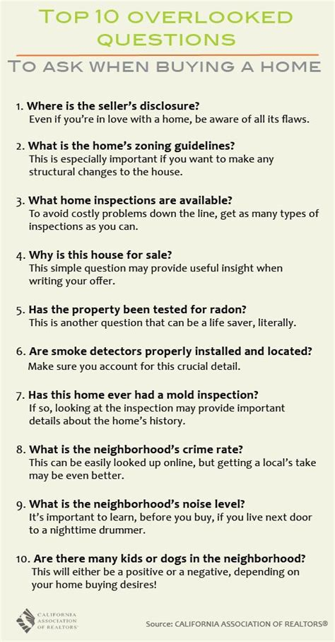 questions you should ask when buying a house questions to ask when buying a home for the home pinterest