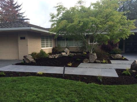 outdoor gardening mid century modern home with mid century modern landscape design ross nw watergardens