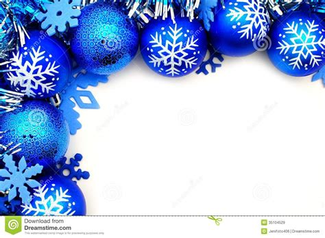 5 best images of blue and silver christmas border blue