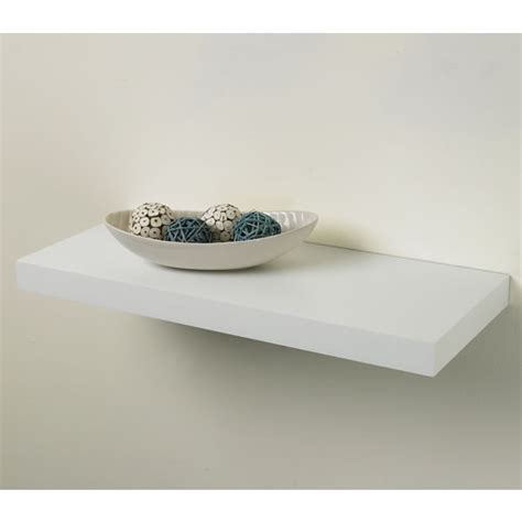 pratica tendenza floating shelf kit white 25cm x 60cm at