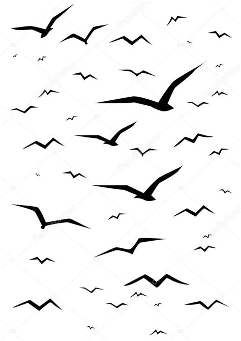 imagenes vectoriales simples siluetas simples gaviota negra archivo im 225 genes