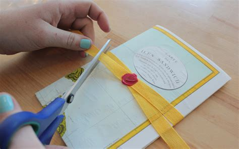 How To Make A Paper Seal - diy tutorial wax seal ribbon belly band