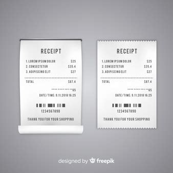 Supermarket Food Icons Set Vector Free Download Receipt Design Template