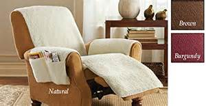 sheepskin covers for recliner chairs protective fleece recliner chair cover brown in the uae