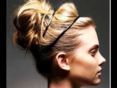 easiest messy side bun youtube on trend quick messy updo bun hannah leigh youtube