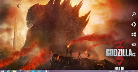 themes new 2014 godzilla 2014 theme for windows 7 and 8 8 1 ouo themes