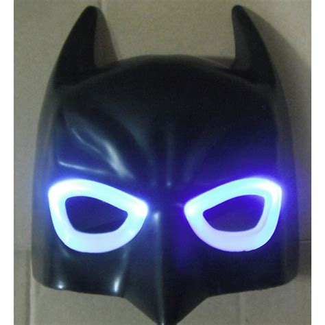 Glowing Kefir Mask 10 Days 10pcs lot led light batman mask for accessories black glowing cool masquerade