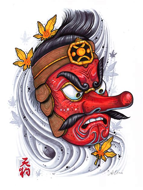 tengu tattoo designs tengu in copic markers japanese designssss