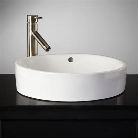 the bathroom sink kinser semi recessed sink traditional bathroom sinks