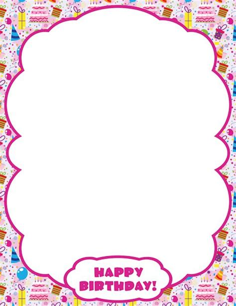 Open Clip Happy Birthday by Printable Happy Birthday Border Use The Border In