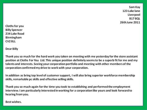 thank you letter to for employment how to get a letter following sle