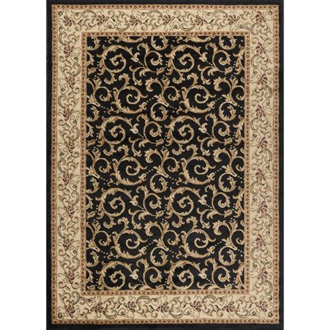 10 X 8 Black Rug tayse international trading ivory gold black 8 x 10