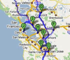 Map From San Francisco To Napa Valley by Advanced Metal Finishing Hard Anodize Electroless