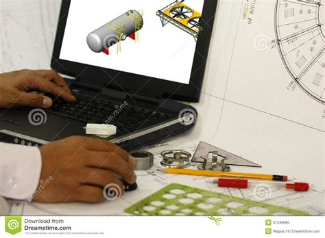 design engineer at work on a computer royalty free stock photo image 31246685