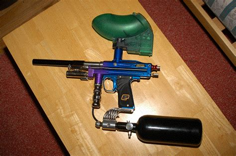 Autococker Paintball Marker with eblade+extra's FS or ... E Blade Paintball Gun