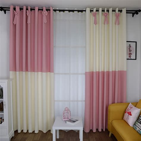 pink and white curtains for nursery nursery pink and white color room block bow curtains