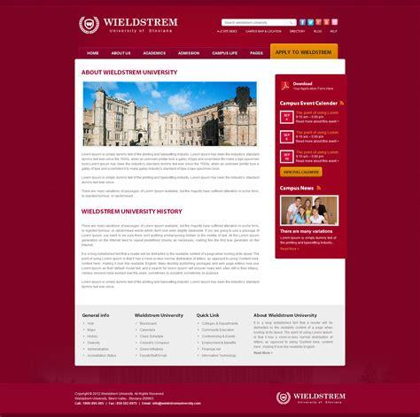 themeforest university wieldstrem university by williamdavidoff themeforest
