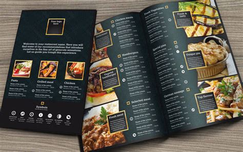 custom food menu template by r3generaldesigns on envato studio