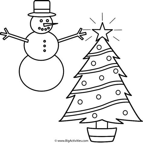 christmas tree and snowman coloring pages christmas tree and snowman coloring pages coloring page