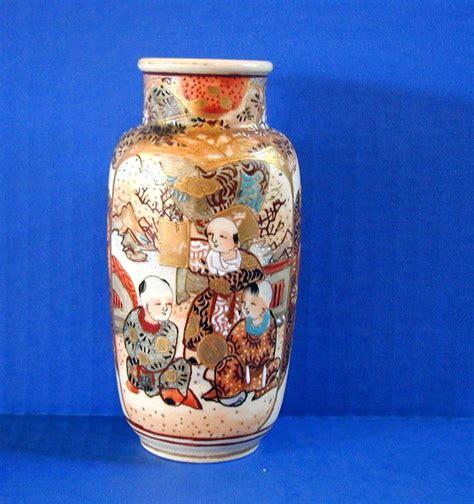 Japanese Vase Identification by Satsuma Vase 3 Boys Studying Antique 19th C Japanese