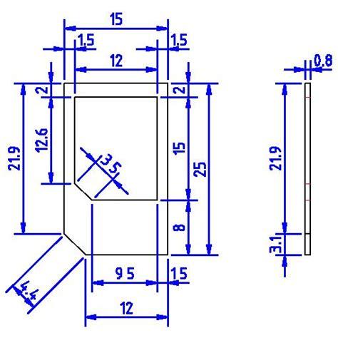 Micro Sim Card Size Template by Librecad User Micro Sim Card Adapter
