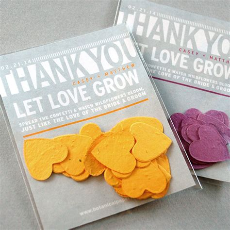 How To Make Seed Paper Favors - modern text based confetti favor plantable seed