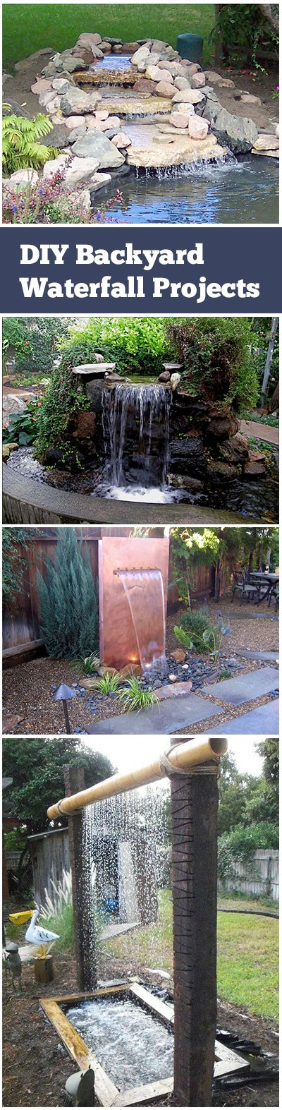 diy backyard waterfall diy garden waterfalls bless my weeds
