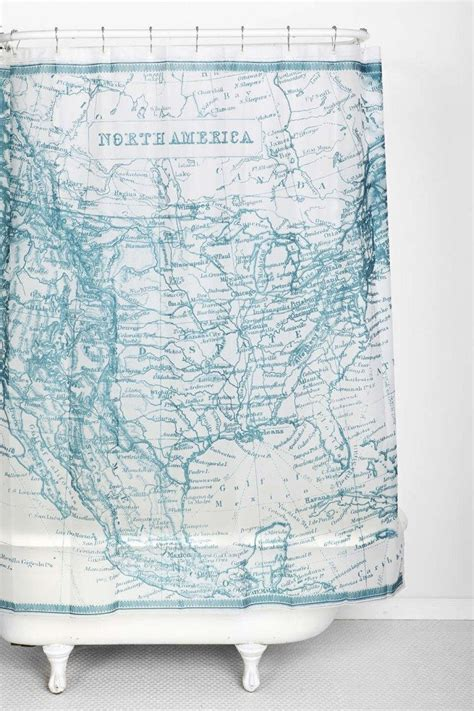 vintage map shower curtain 10 super stylish and super affordable shower curtains