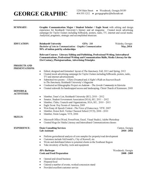resume templates for college exle of college resume template resume builder